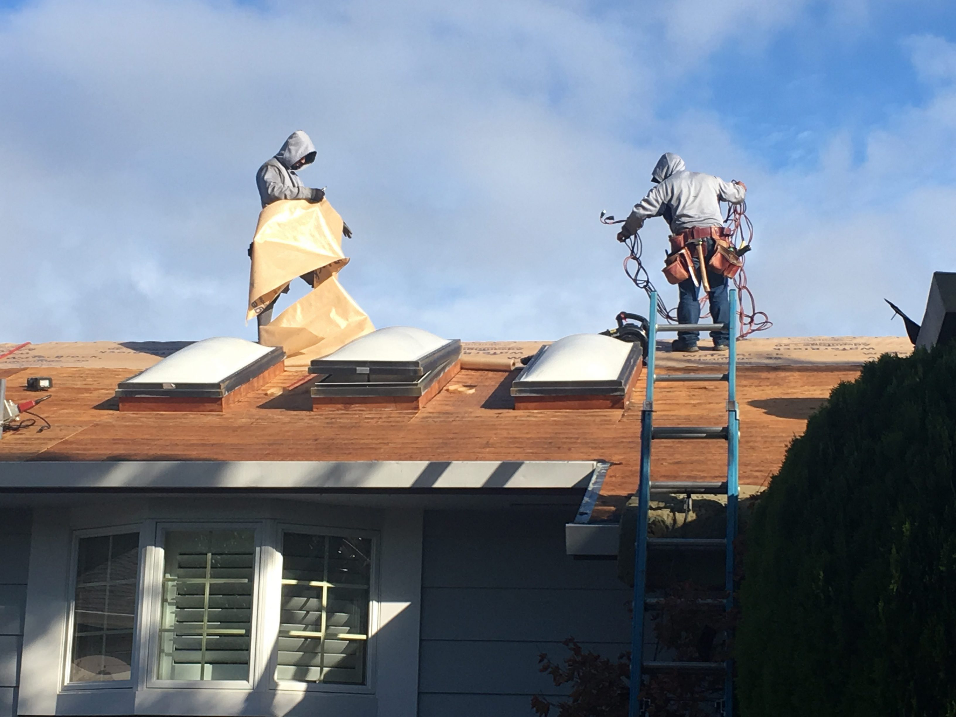 Roof construction in Marin